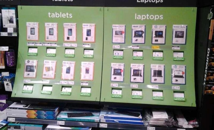 Retail Point of Sale Display for Asda Technology