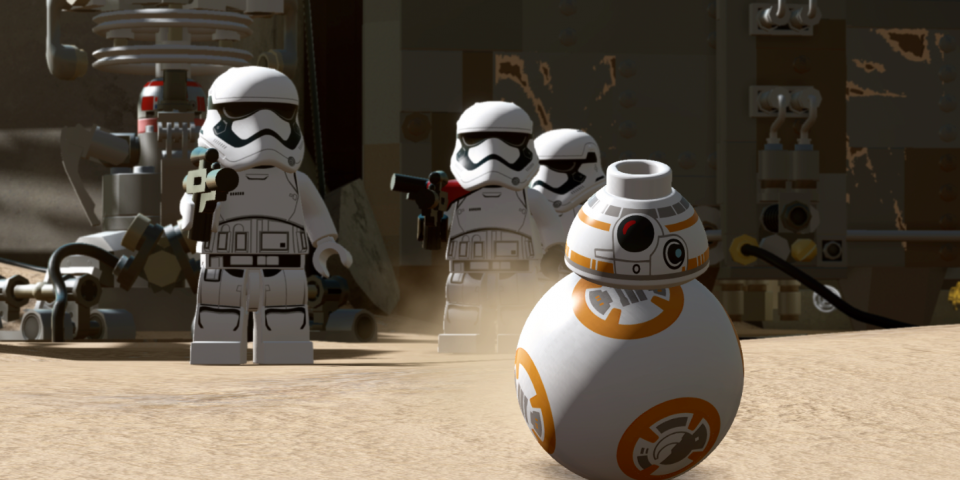 Launch Day Merchandising For Lego Star Wars: The Force Awakens Game