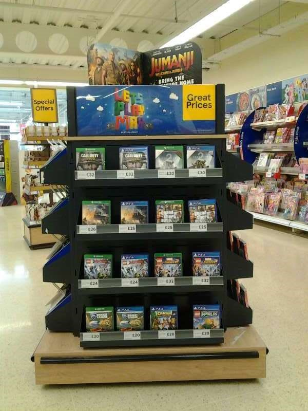 #LetsPlayMay set-up in Tesco