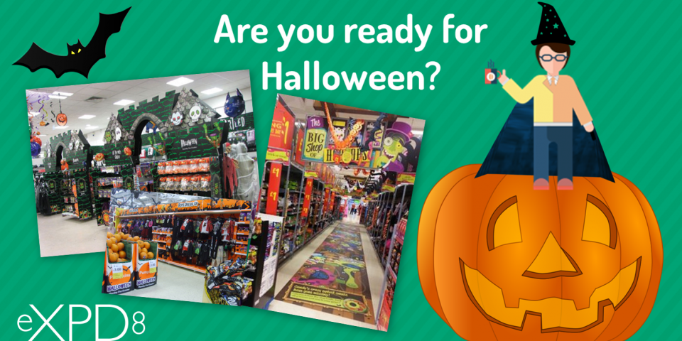 POS Promotion set up in retail stores for Halloween