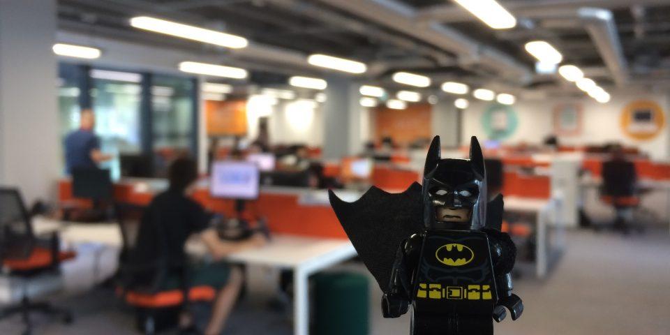 LEGO Batman in the eXPD8 Batcave