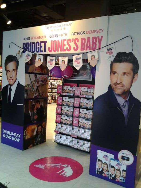 Bridget Jones's Baby DVD Launch day set up
