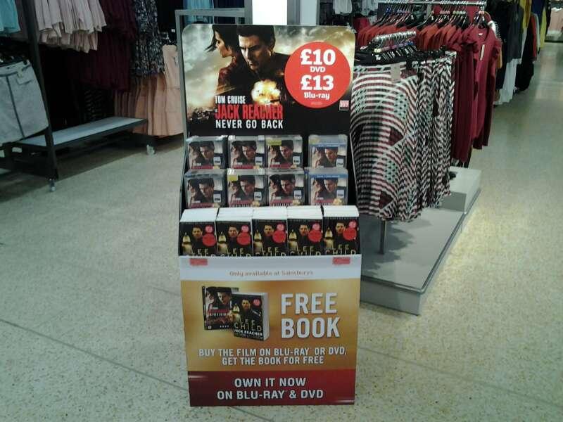 Jack Reacher DVD launch day set up
