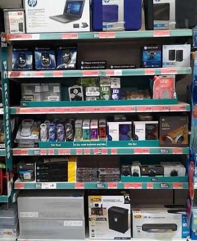 Back To School - Merchandising Dummy Boxes In Seasonal Aisle For JS Technology