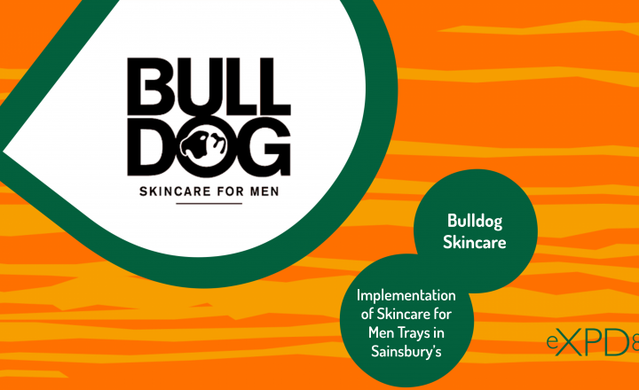 Implementation of Bulldog: Skincare for Men Trays in Sainsbury's