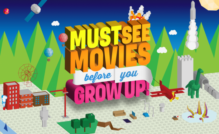 ERA Must See Movies before you Grow Up POS set up campaign