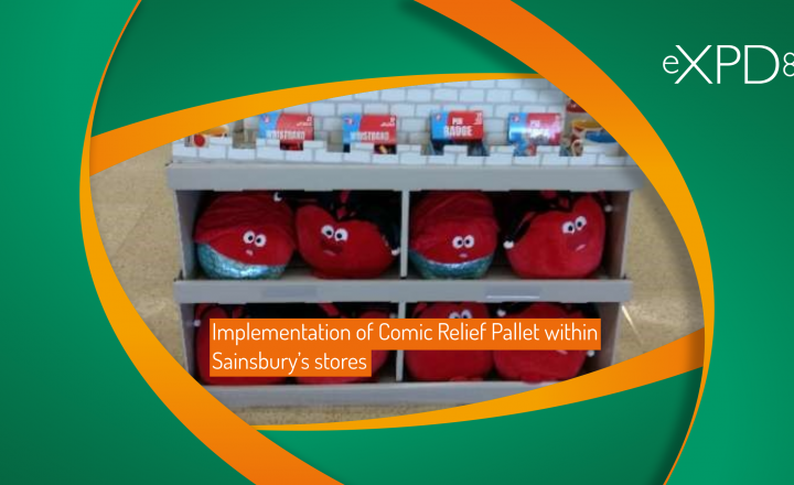 Implementation of Comic Relief Pallet within Sainsbury's stores
