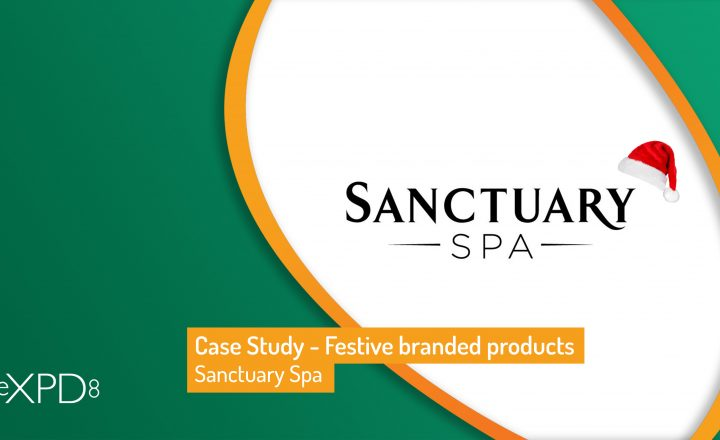 Case Study – Sanctuary Spa festive branded products