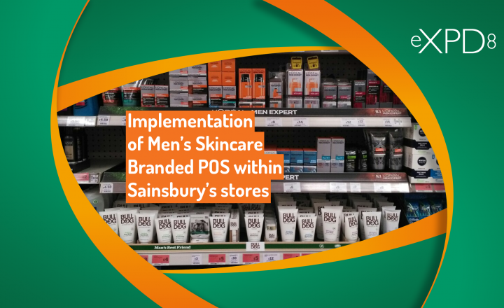 Implementation of Men's Skincare Branded POS within Sainsbury's stores
