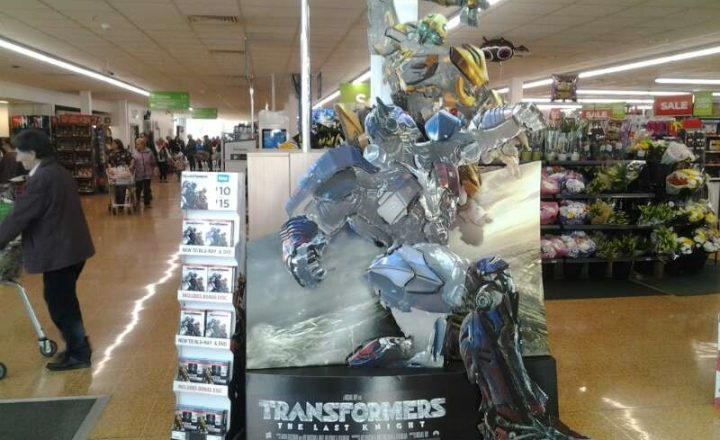 'Transformers: The Last Knight' Character Standee set-up