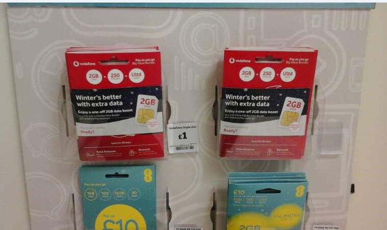 Retail merchandising and fulfilment of SIM card pack update