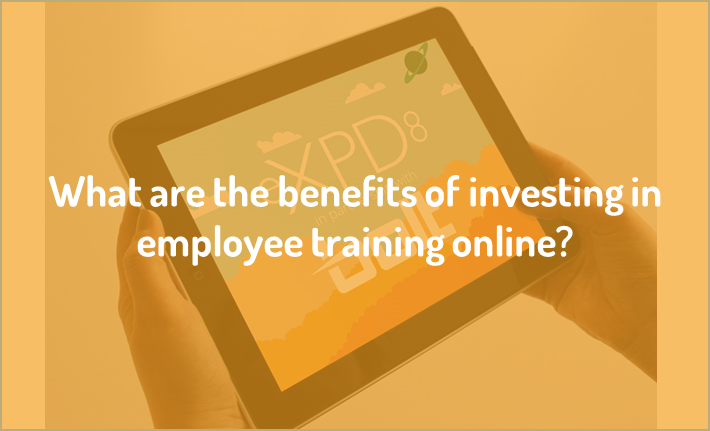 What are the benefits of investing in employee training online?